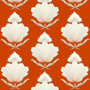 Fan Floral Damask_orange