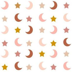 boho stars and moons