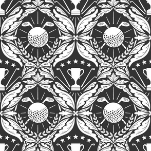 Golf damask wallpaper
