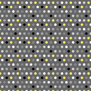 Yellow Dots on Gray Small