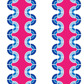 Wavy Stripes in Peony