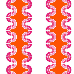 Wavy Stripes in Orange