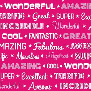 Awesome Words (Pink)
