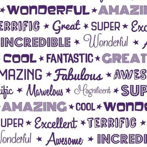 Awesome Words (Purple)