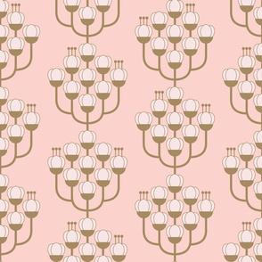 Reimagined Damask-Plum Blossoms-Pink
