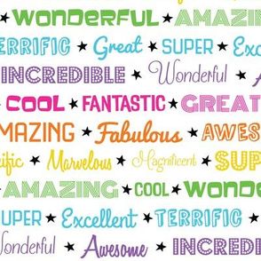 Awesome Words (Rainbow)