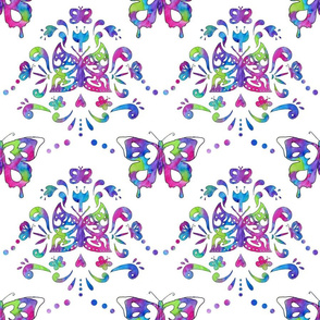 Butterfly Damask Brights