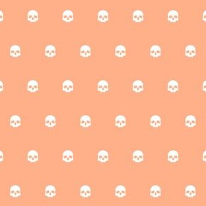 Orange Skull Polkadots