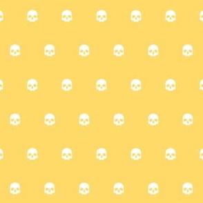 Yellow Skull Polkadots