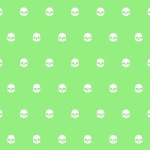 Green Skull Polkadots