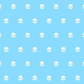 Blue Skull Polkadots