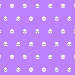 Purple Skull Polkadots