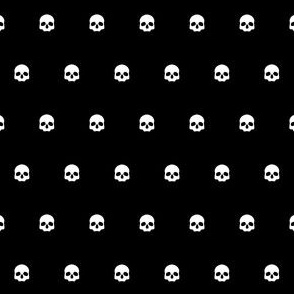 Black Skull Polkadots