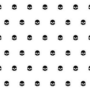 White Skull Polkadots
