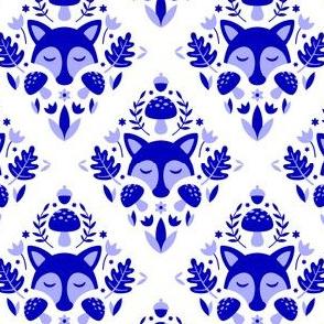 Forest Damask Blue