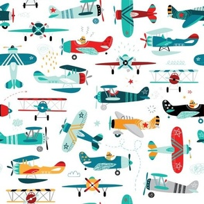 airplanes pattern-big scale