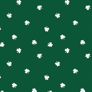 The minimalist clovers green St Patrick's Day irish shamrock lucky charm forest green white