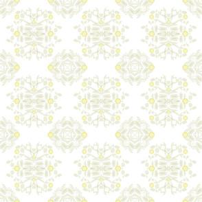 Pale Lemon Damask
