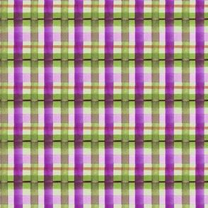 pretty in purple plaid LIGHT GREEN