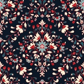 Sixties Floral Damask