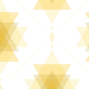 geometric damask - triangles symbol - illuminating yellow