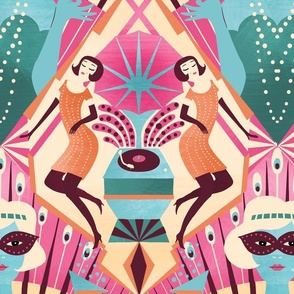art deco cocktail party // pink