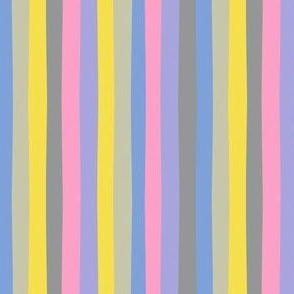 Off Kilter Stripes in Bright Pastels