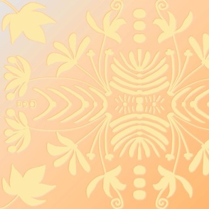 PALE GOLD AND YELLOW DAMASK