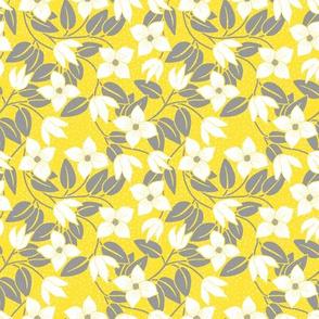 Yellow Flowers Nouveau