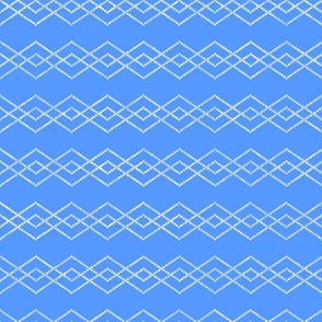 Bead Diamonds White on Azul de Taos 150