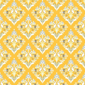 Yellow damask