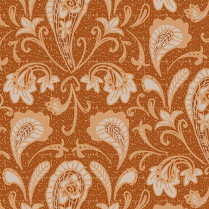 damask pailsey copper