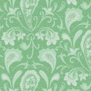 damask paisley mint