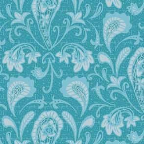 damask paisley turquoise