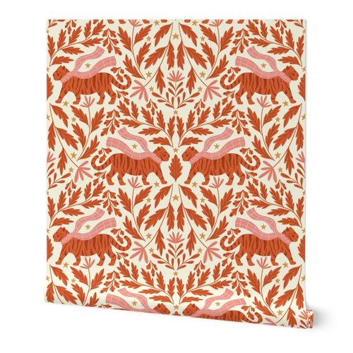 Cozy Tigers Damask