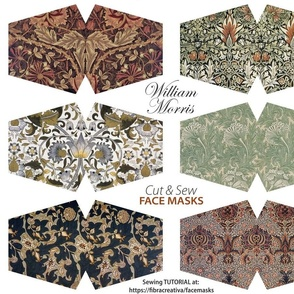 12 William Morris face mask cut outs