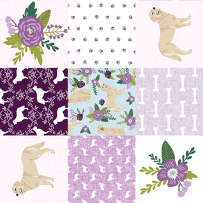 golden retriever pet quilt c cheater wholecloth dog breed fabric
