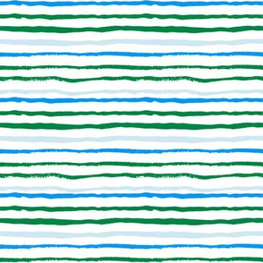 stripes green and blue fabric