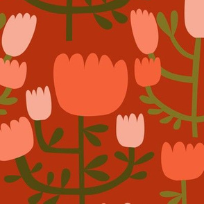 Cut Paper Wild Field Red Large Scale