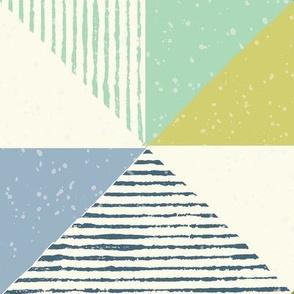 geometric triangle pattern large