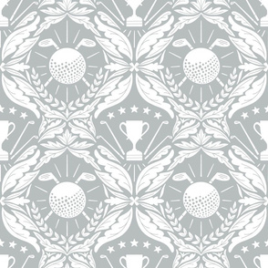 Golf damask wallpaper_Samovar silver