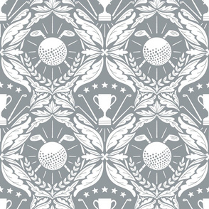 Golf damask wallpaper_ dark grey