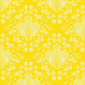 Mayura Raksha White on Yellow
