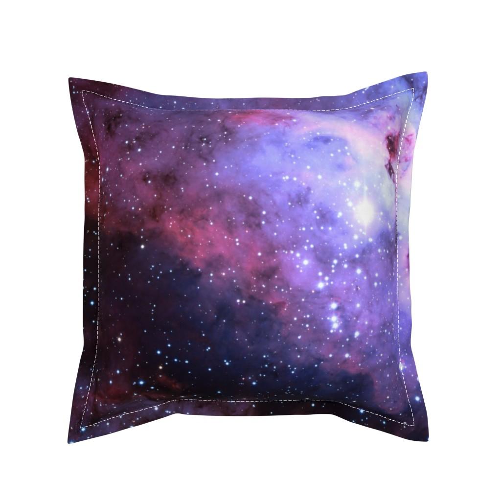 Serama Throw Pillow featuring Carina Nebula (edited, blue) by azizakadyri