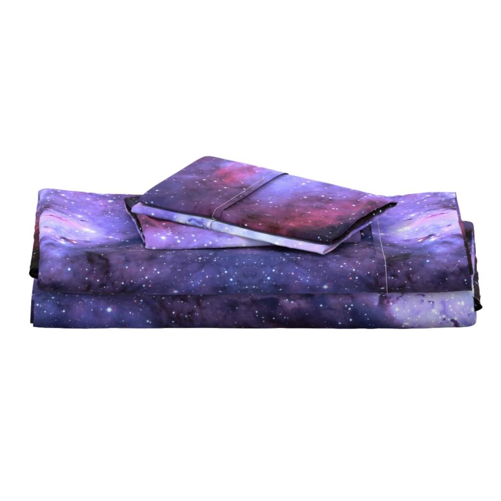 Langshan Full Bed Set featuring Carina Nebula (edited, blue) by azizakadyri