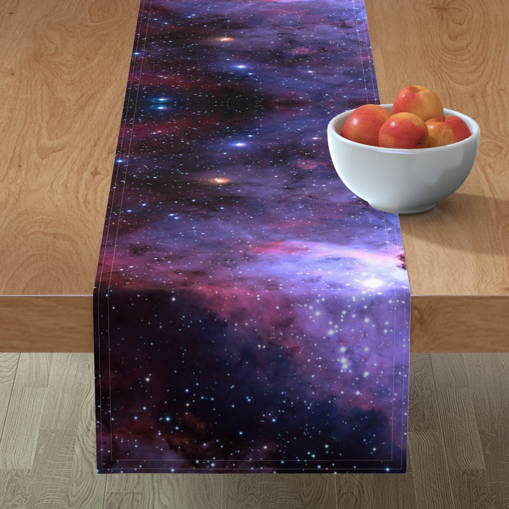 Minorca Table Runner featuring Carina Nebula (edited, blue) by azizakadyri