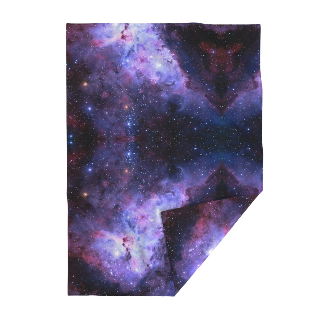 Lakenvelder Throw Blanket featuring Carina Nebula (edited, blue) by azizakadyri