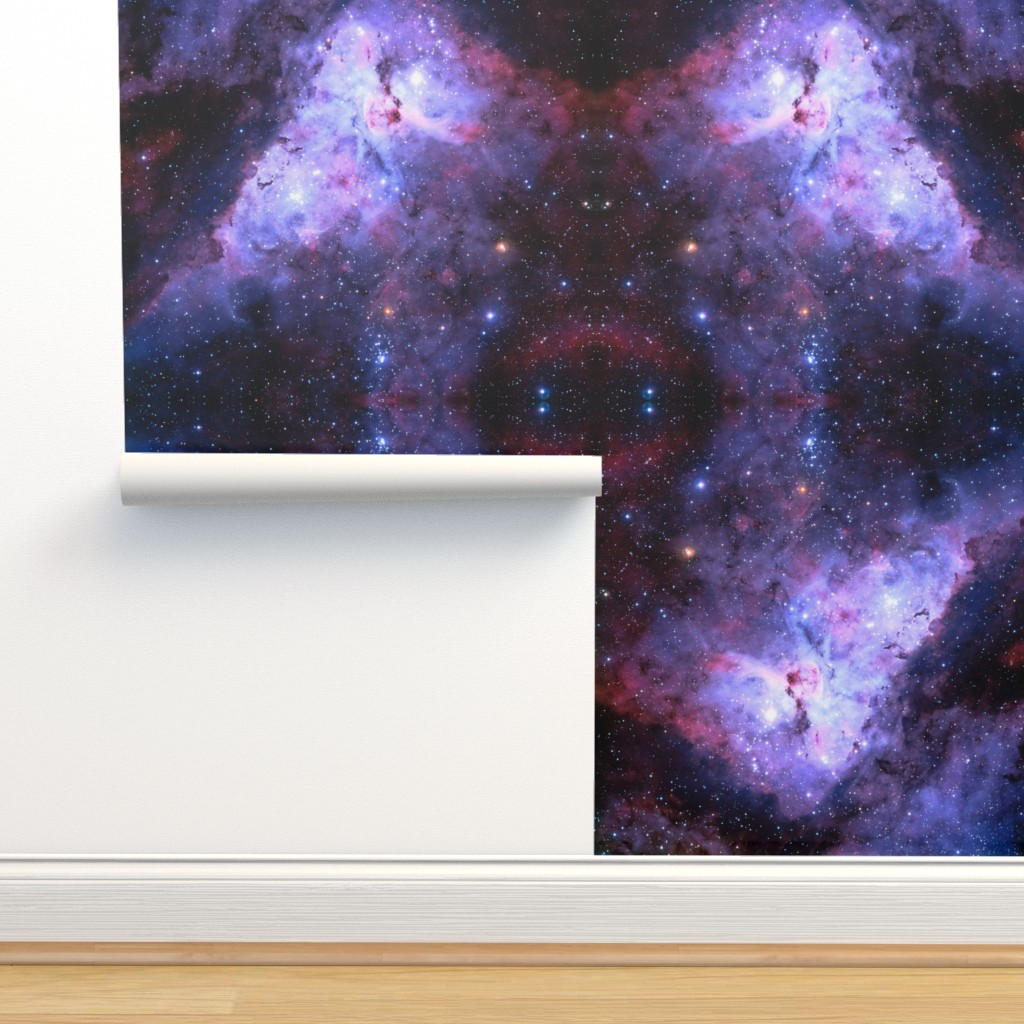 Isobar Durable Wallpaper featuring Carina Nebula (edited, blue) by azizakadyri