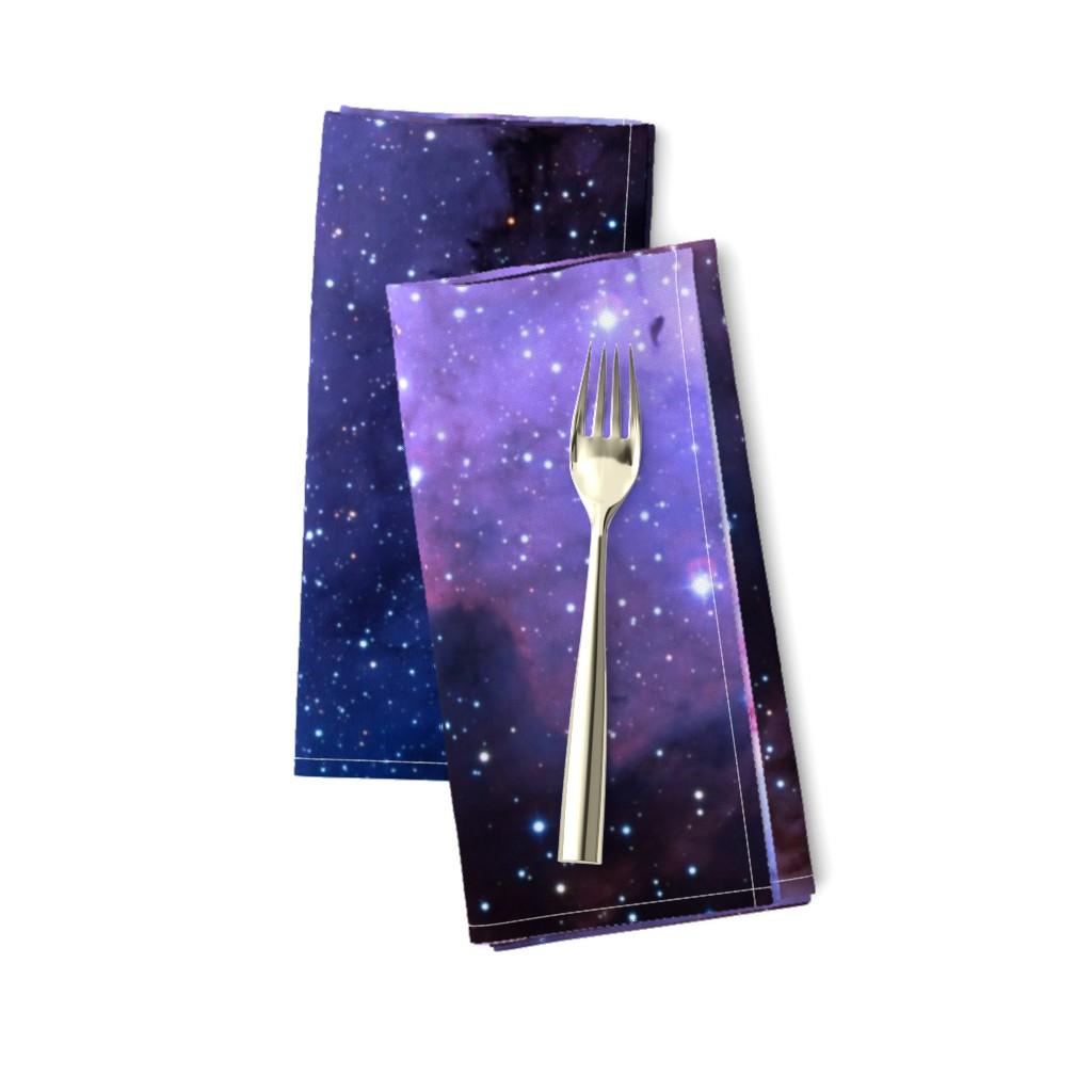 Amarela Dinner Napkins featuring Carina Nebula (edited, blue) by azizakadyri