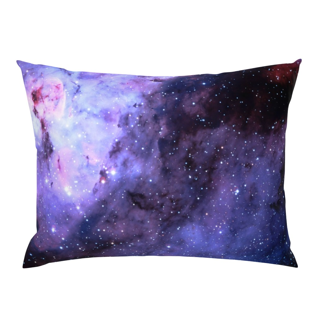 Campine Pillow Sham featuring Carina Nebula (edited, blue) by azizakadyri